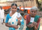Sharp cards Special cellphones  using Near Field Communication technology and smart cards help villagers in easy banking and other financial services