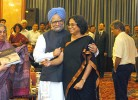 History first: Upinder Singh with father Manmohan Singh at the launch of her book
