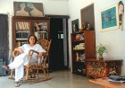 Houseful: Upinder at her modest home in the St Stephen's College staff quarters