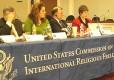Gaer (far right) chairing a USCIRF meet