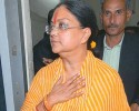 Vasundhararaje on her way to the Raj Bhawan after the defeat