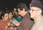 Raj Babbar & V.P. Singh with Nithari residents