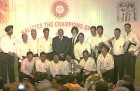 The Champions: 1983 World Cup winner team with BCCI President Sharad Pawar and MS Gill