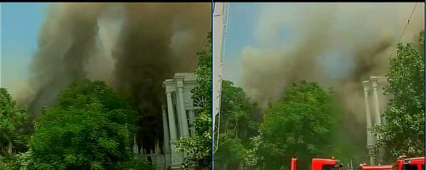 Major Fire in Building in Delhi's Connaught Place