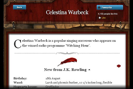 Rowling Brings More on Singing Sorceress Celestina Warbeck