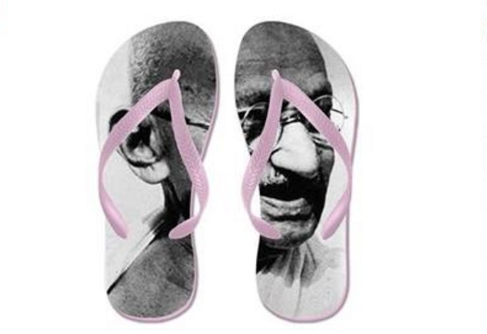 Amazon's listing for £14 'Gandhi flip flops' prompts outrage in India