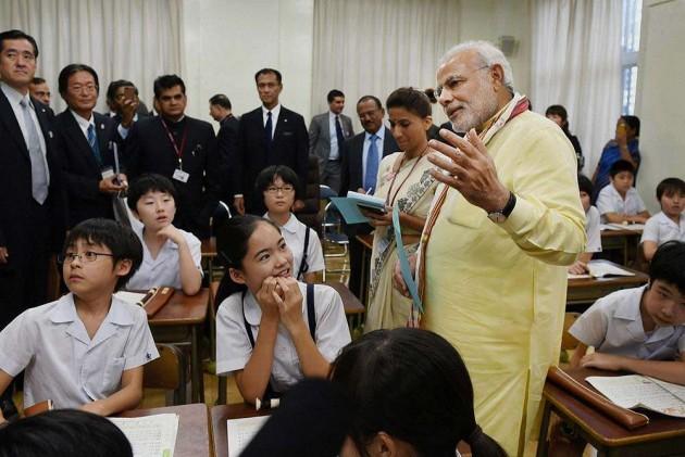 Modi Narrates Tales of Krishna to Japanese Students