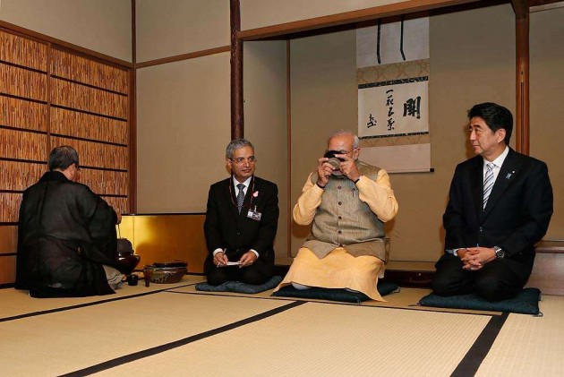 Modi's 'Chai pe Charcha' With Abe in Japan
