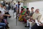 Prime Minister Modi Travels by Delhi Metro to Inaugurate Badarpur Line