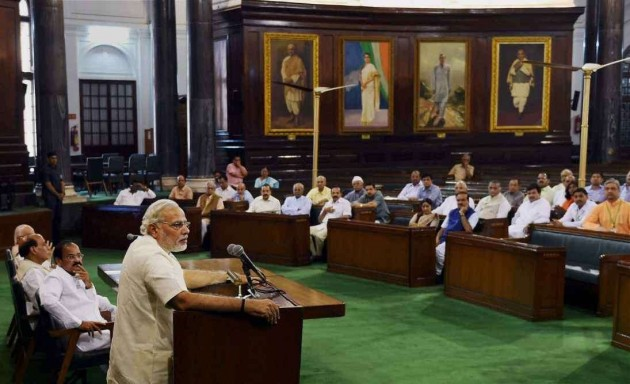 Don't Touch My Feet, Just Be Good MPs: Modi