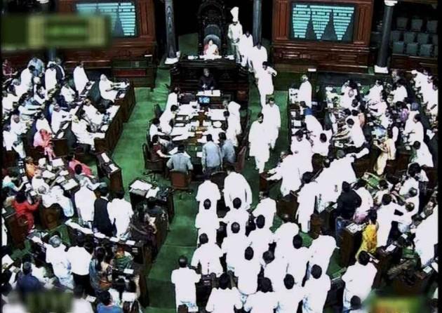 TRS MPs Oppose Polavaram Ordinance in Lok Sabha