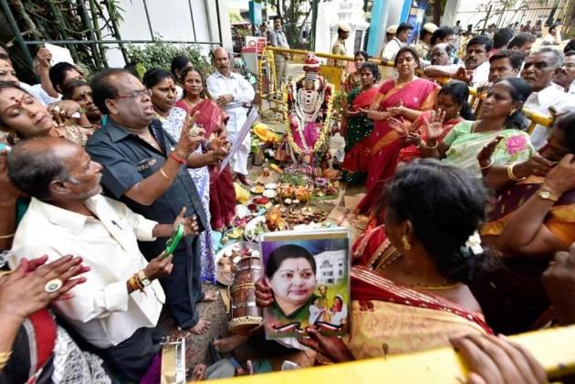Jayalalithaa just passed away