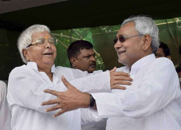 Lalu, Nitish Share Dais After Two Decades