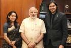 Grammy Winner Ricky Kej Meets Modi