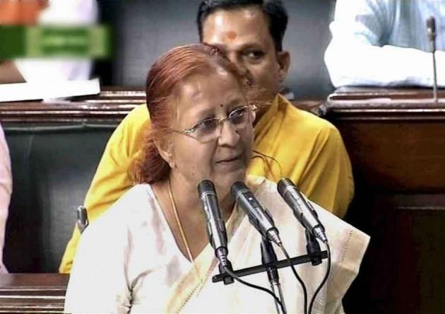 Sumitra Mahajan Unanimously Elected As Speaker of LS