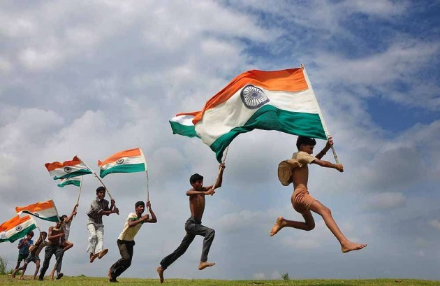 Flying High the Tricolour on Independence Day