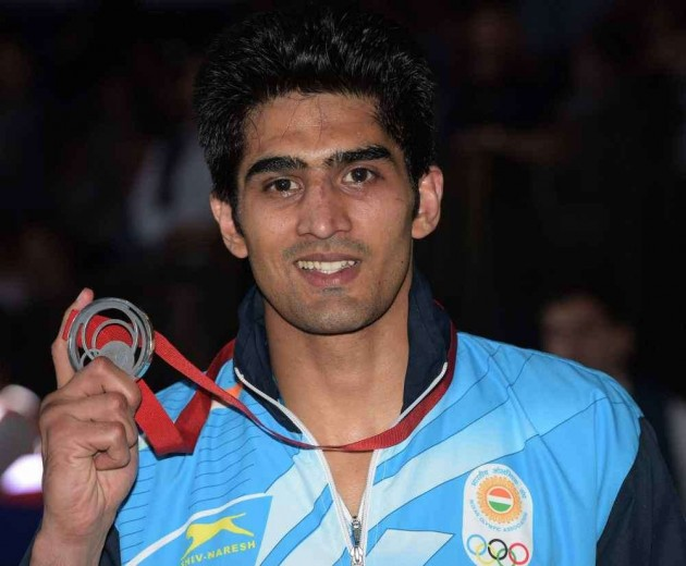 Vijender Settles for Silver as Indian Boxers Fail to Win Gold