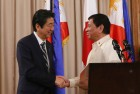 Japan PM Shinzo Abe Becomes First Foreign Leader to Visit Duterte's Philippines