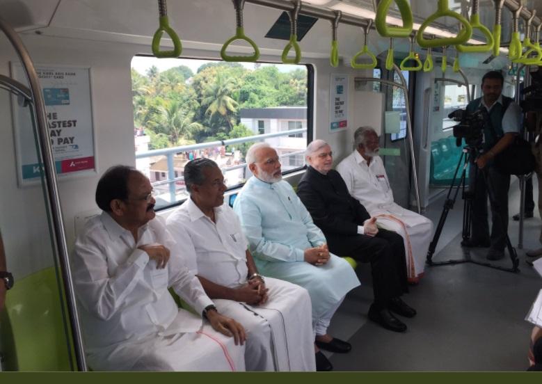 PM Modi Inaugurates Kochi Metro