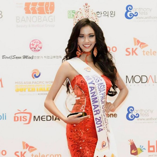 Dethroned Myanmar Beauty Queen Takes Off With Crown