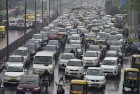 Delhi Commuters Face Traffic Snarls Due to Water-Logging
