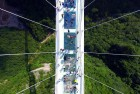 China Opens Longest Glass Bottom Bridge in the World