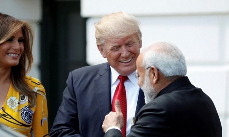Trump, Melania receive PM Modi at White House