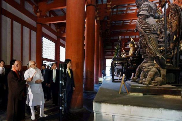 Modi in Japan: Abe, PM Pay Respects at Buddhist Temples