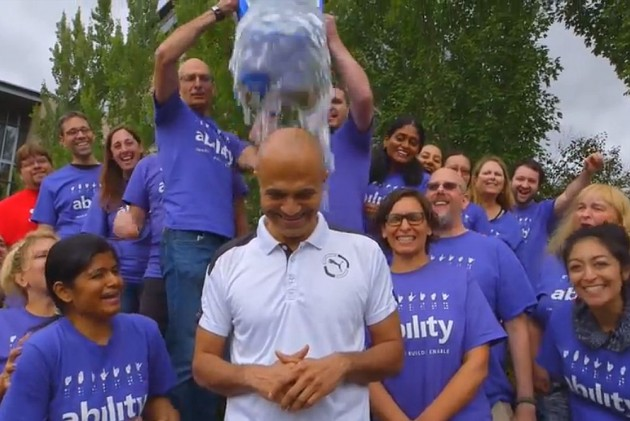 Nadella Spreads Awareness, Takes up Ice Bucket Challenge