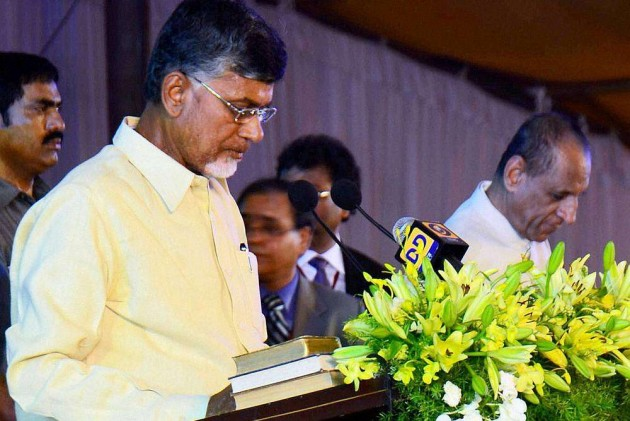 Chandrababu Naidu Takes Oath as the First CM of New AP