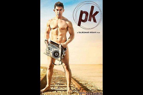 Aamir Khan Bares All for 'PK' Poster