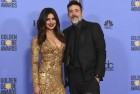 Priyanka Chopra Goes Golden in Ralph Lauren Gown at the Golden Globes