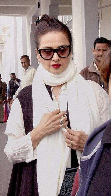 Rekha Turns Up to Attend RS Proceedings Amid Criticism