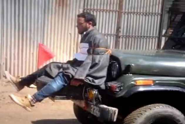 Army Major who tied stone pelter to jeep gets award