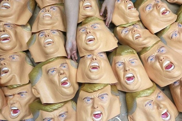 Raw Chicken Outlook India Donald Trump Lookalike Inflatable Chickens To Usher In Year Of Rooster