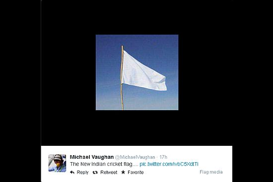 Vaughan Creates Controversy Over 'New Indian Cricket Flag'