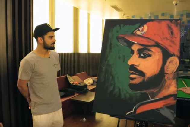 British Indian Buys Virat Kohli Painting Depicting His IPL Journey For Rs 2.4 Crore