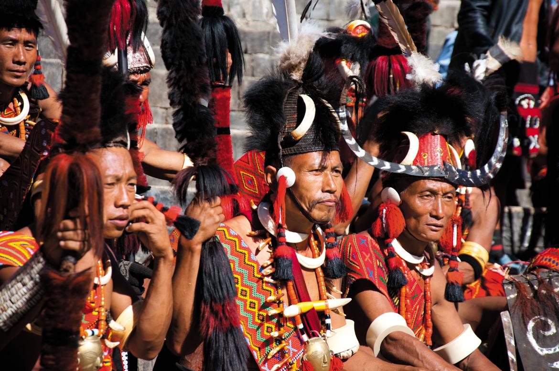 Naga warriors in all their regalia
