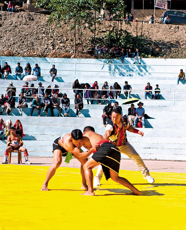 Naga wrestling championship at the festival