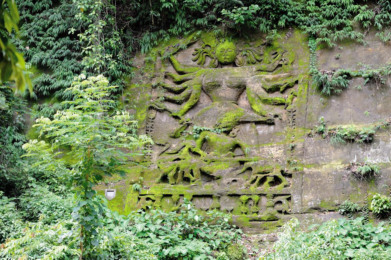 Devtamura rock carving in Tripura