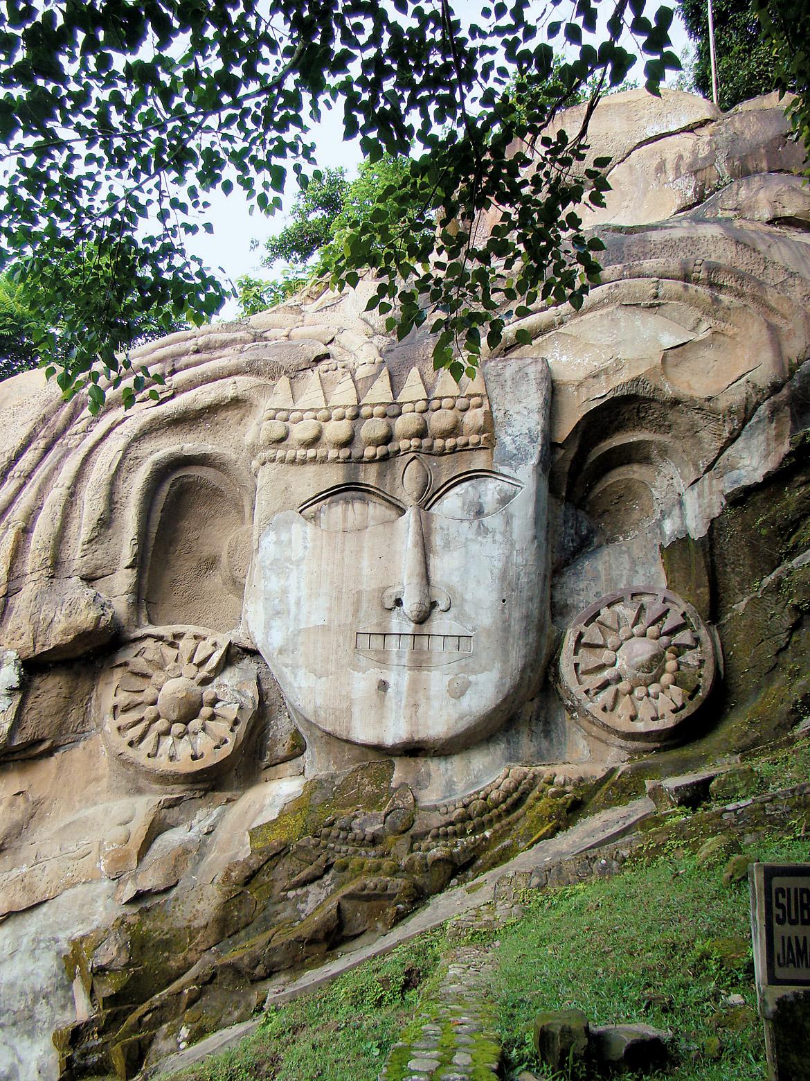 Rock-cut sculpture at Unakoti, Tripura
