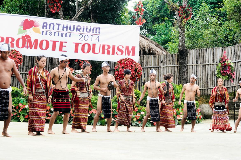 Solakia dance performance at the Anthurium Festival, Mizoram