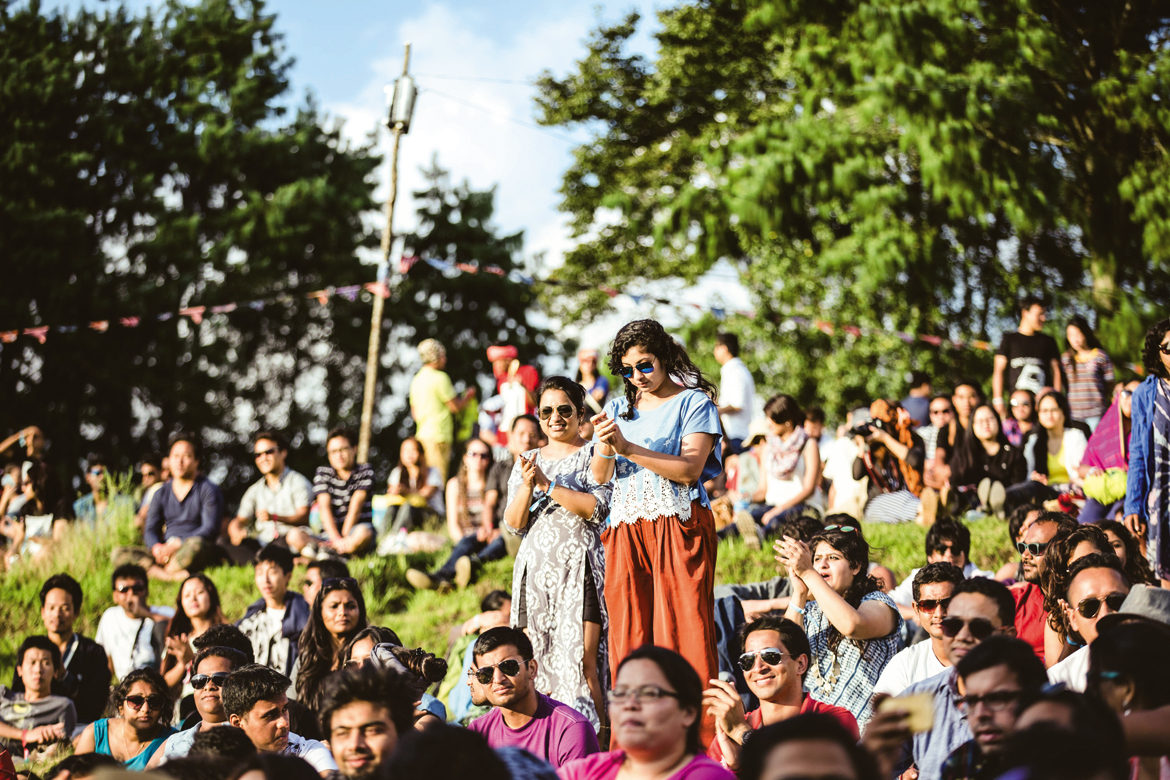 Audience at Ziro Festival of Music