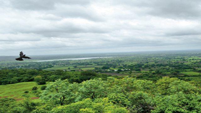 Verdant landscape around Ananthagiri Hills