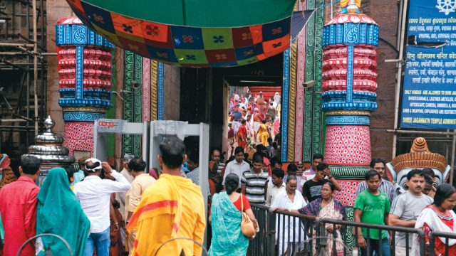 The entrance to the Jagannath Temple in Puri, Odisha