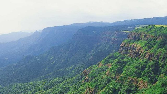 The densely-forested hills surrounding Amboli