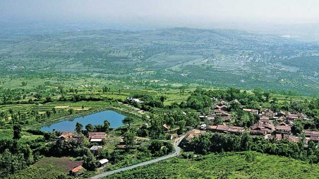 The beautiful Kolhapur valley, as seen from a vantage point