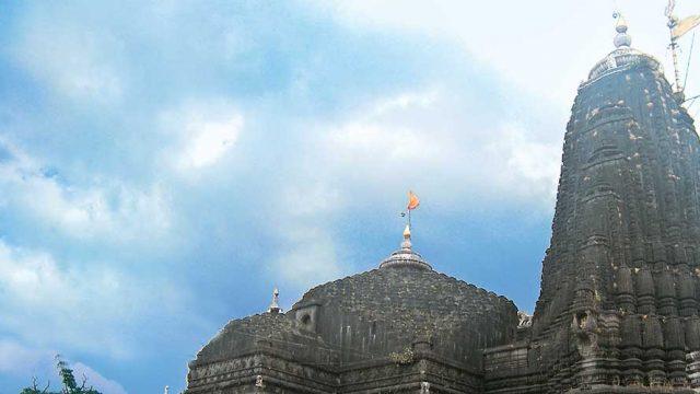 The awe-inspiring edifice of the Trimbakeshwar Jyotirlinga Temple