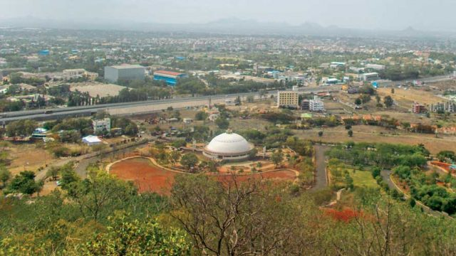 A view of Nashik city from the Pandav Leni Caves