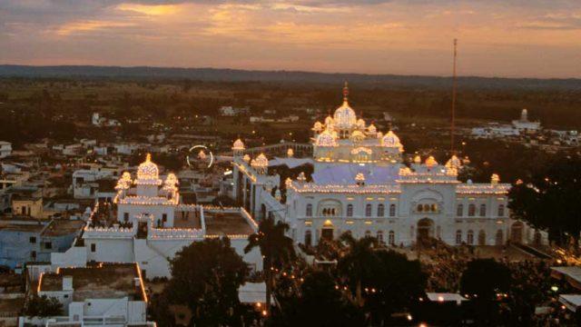 Aerial view of Anandpur Sahib